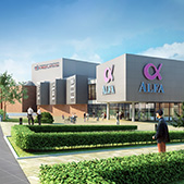 Shopping mall with multiplex cinema